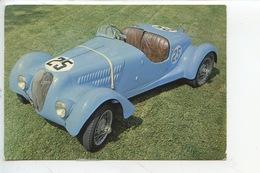 Barquette Simca Gordini 1937 - Collection Chassaing De Borredon Le Bec Helloin Musée Automobile Abbatiale (cp Vierge) - Passenger Cars