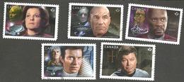 Sc. # 2986-90 Star Trek Set #2 Used 2017 K243 - 1952-.... Règne D'Elizabeth II