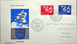 Sweden 1956 NORDEN    Minr.416-17   FDC ( Lot 4792) FOGHS COVER - FDC