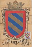 Carte  Maximum  1er  Jour  FRANCE   Blason   Du   NIVERNAIS    1954 - Maximum Cards