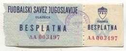 FOOTBALL / FUTBOL / CALCIO - Yugoslavia Federation FSJ, NK SLAVONIJA Osijek, Honorary Free Ticket, 1960s - Match Tickets