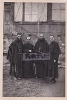 PHOTO ANCIENNE,SOUVENIR DE LA MISSION,1942,Curé,et ABBé,DUMONT,BRUNON,DROME,P ALEXANDRE DES CAPUCINS DE ST ETIENNE - Religion & Esotérisme