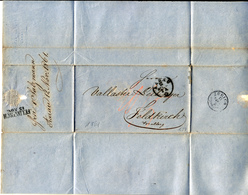 1861 LETTER  ARAU To FELDKIRCH - ...-1845 Prefilatelia