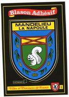 CPM    BLASON ADHESIF    VILLES ET PROVINCES DE FRANCE   06     MANDELIEU LA NAPOULE - Postcards