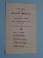 H. Communie Lutgarde BOONE Te LEUVEN Op 25 Maart 1943 ( Details - Zie Foto ) ! - Communion