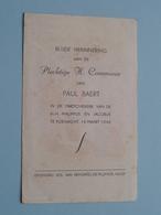 H. Communie Paul BAERT Te KOEWACHT Op 14 Maart 1948 ( Details - Zie Foto ) ! - Communion