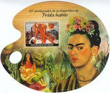 Niger 2014**, Maler Frida Kahlo, Sukkulente / Niger 2014, MNH, Painter Frida Kahlo, Succulent - Sukkulenten