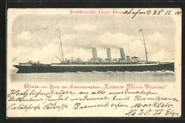 "AK Passagierschiff ""Kaiserin Maria Theresia"" In Voller Fahrt - Paquebots"