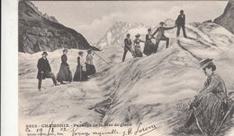 Cp , 74 , CHAMONIX , Passage De La Mer De Glace - Chamonix-Mont-Blanc