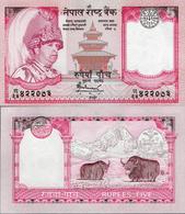Nepal 2005 - 5 Rupees - Pick 53 UNC - Nepal