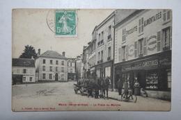 78 :  Maule - La Place Du Marché ( Boutique  , Attelage ) - Maule