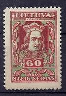 180030244  LITUANIA  YVERT  Nº  73a  */MH - Litouwen
