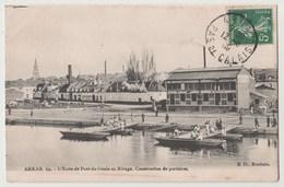 CPA 62 ARRAS L' Ecole De Pont Du Génie Au Rivage - Arras