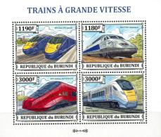 Burundi  Kleinbogen  Hochgeschwindigkeitszüge   ** / MNH - Treinen