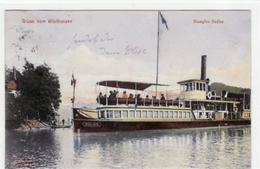 39067249 - Woerthersee Mit Dampfer Helios Gelaufen, Ca. 1900. Ecken Mit Albumabdruecken, Leichte Stempelspuren, Sonst G - Österreich