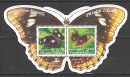 D728 PITCAIRN ISLANDS FAUNA INSECTS BUTTERFLIES BLUE MOON BUTTERFLY 1BL MNH - Schmetterlinge