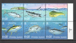 D745 PITCAIRN ISLANDS MARINE LIFE FISH 1SET MNH - Meereswelt