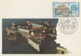 Carte  Maximum  1er  Jour     FRANCE   Musée  De  L' Atlantique   PORT - LOUIS    1976 - Cartes-Maximum