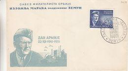 Yougoslavie - Lettre De 1951 - Oblit Izlozba - Marechal Tito - Chars - Valeur 35 Euros - 1931-1941 Kingdom Of Yugoslavia