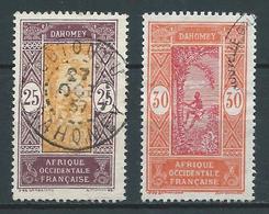 DAHOMEY 1922 . N°s 63 Et 64 Oblitérés . - Dahomey (1899-1944)