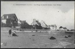 CPA 29 - Brignogan, La Plage à Marée Basse - Les Villas - Brignogan-Plage