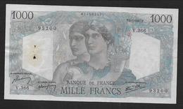 1000 Fr  Minerve Et Hercule  Du 9 - 1 - 1947 - 1871-1952 Antichi Franchi Circolanti Nel XX Secolo