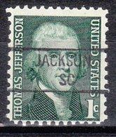 USA Precancel Vorausentwertung Preo, Locals South Carolina, Jackson 841 - Vereinigte Staaten