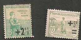 Au Profit Des Orphelins De Guerre Timbres De 1917 Surchargé YT 163 - 164 Neufs Avec Charnière - France