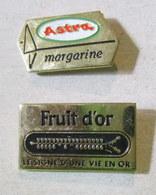 Pin's Margarine Astra Et Fruit D'Or, Les 2 - Markennamen