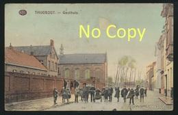 """Thourout Torhout Belgien : Gasthuis Carte Couleur / Guerre 1914-18 : Stempel """" Landsturm Inft. Batl. Komp. Kitzingen """" - Torhout"""