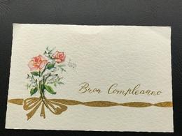 BUON COMPLEANNO Bouquets De Fleurs - 1967 - Neujahr
