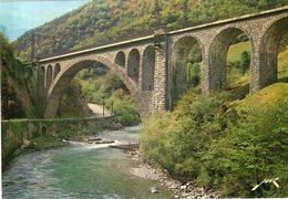 Dept 64,Pyrénées Atlantiques,Cpm Vallée D'Aspe,Le Viaduc D'Escot: Ligne Oloron-Confranc - France