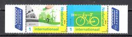 Nederland 2016 Nvph Nr 3399 + 3400, Mi Nr 3457 + 3458 ; Denk Groen; Europa; Fiets, Bike Postfris - Periode 2013-... (Willem-Alexander)