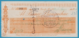 CHILI PUERTO MONTT CHEQUE AL BANCO LLANQUIHUE 1949 - Cheques & Traveler's Cheques