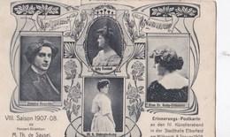 CPA : Elberfeld (Allemagne) Konzert Saison 1907-08 Rare  Erinnerungs Postkarte  Hegedus  Henkel Debogis Retty - Wuppertal
