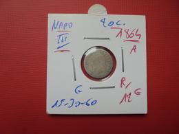 """NAPOLEON III. 20 Centimes (ARGENT) 1864 """"A""""  QUALITE:VOIR PHOTOS - France"""