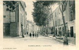 Saint Jean Du Bruel La Grand Rue Grande Circulee En 1905 - France