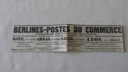 BERLINES-POSTES ( DILIGENCES )- PARIS-ROYE , PARIS-ARRAS , PARIS-LILLE , PARIS-LYON PAR LA BOURGOGNE -1843. - Europe