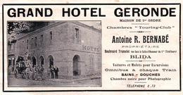 L'Afrique Du Nord Illustrée - Grand Hotel Géronde - Antoine R. Bernabé - Bvd Trumulet Blida - Reclame