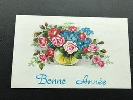 BONNE ANNEE Bouquet De Fleurs - 1971 - Neujahr