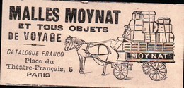 L'illustration 1908 - Malles Moynat Et Tous Objets De Voyage - Place Du Théatre -Français - Paris - Reclame
