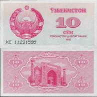 Uzbekistan 1992 - 10 Sum - Pick 64 UNC - Uzbekistan
