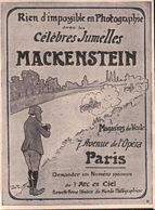 L'illustration 1908 - Rien D'impossible En Photographie Avec Les Célèbres Jumelles Mackenstein - Advertising