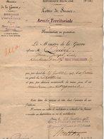 VP12.251 - MILITARIA - PARIS 1903 - Lettre De Service Du Lieutenant QUERE Au 137ème Régiment Territorial D'Infanterie - Documents