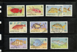 Anguilla  1990 Fish Definitives To $10 Postally Used - Anguilla (1968-...)