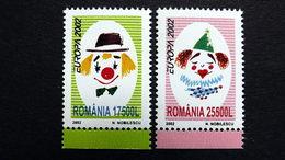 Rumänien 5657/8 **/mnh, EUROPA/CEPT 2002, Zirkus - Ongebruikt