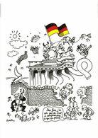 CP ILLUSTRATEUR PLANTU ALLEMAGNE 1989 LA CHUTE DU MUR DE BERLIN NEUVE - Plantu