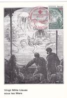 Carte-Maximum FRANCE N° Yvert 2248 (Jules VERNE) Obl Sp Ill 1er Jour - 1980-89