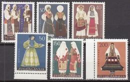 JUGOSLAWIEN 1085-1090, Postfrisch **, Volkstrachten 1964 - Unused Stamps