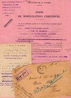 VP12.257 - MILITARIA - Le HAVRE 1921 - Ordre De Mobilisation - Chef De Bataillon QUERE Au 129 ème Régiment D'Infanterie - Documents